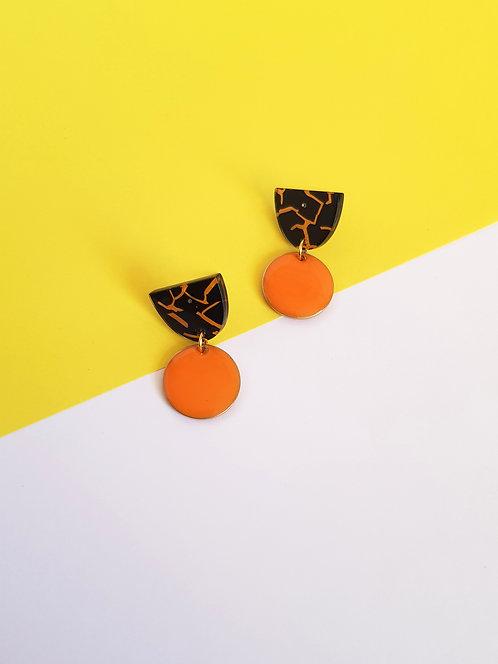 Isabelle Earrings - Orange