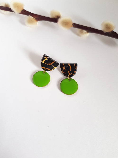 Isabelle Earrings - Green
