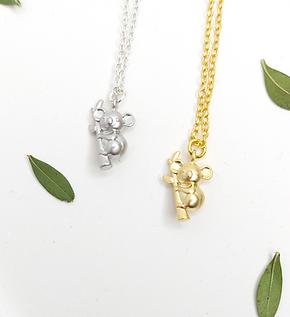 Koala Bear Necklaces - gold or silver