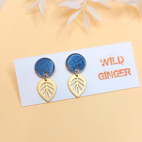 Willow Earrings - dark blue