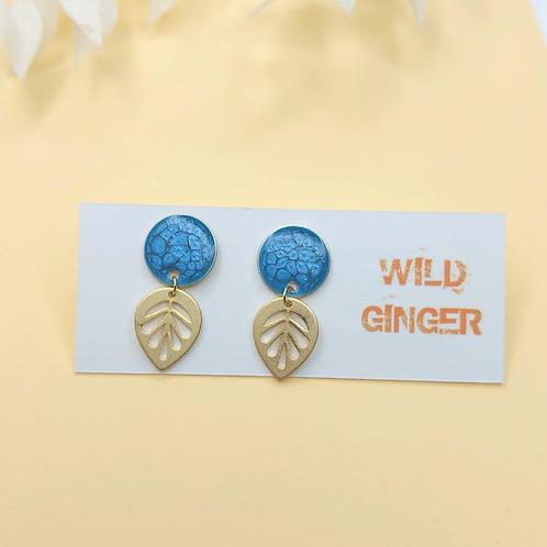 Willow Earrings - Caribbean blue