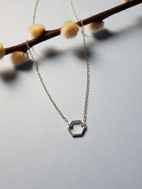 Minimalist Hexagon Necklace
