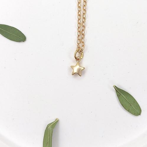 Tiny Gold Star Necklace