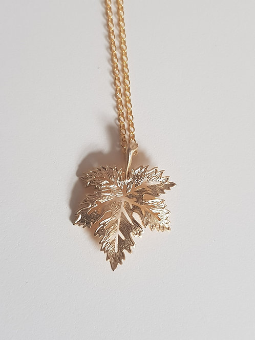 Gold-filled Maple Leaf Necklace