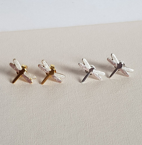 Pale Pink & Pearl Dragonfly Studs