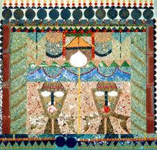 """Mosaïque murale pour hall, """"Porte africaine"""""""
