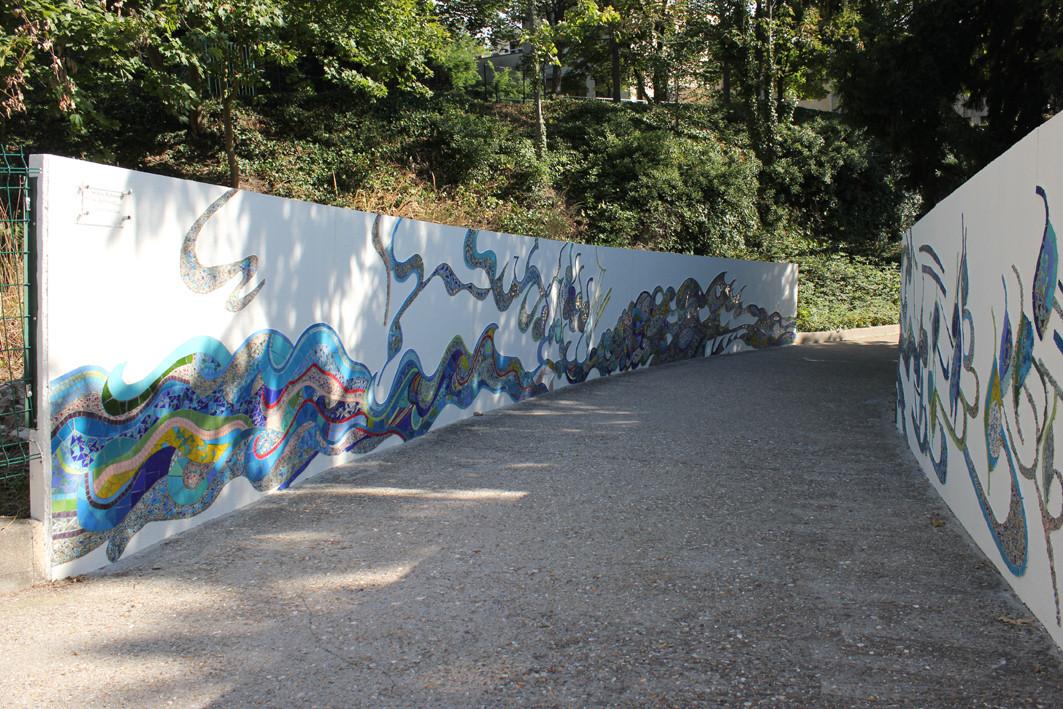 """Le Chemin Debussy, """"Reflets dans l'eau"""", 14 x 1,40 m"""