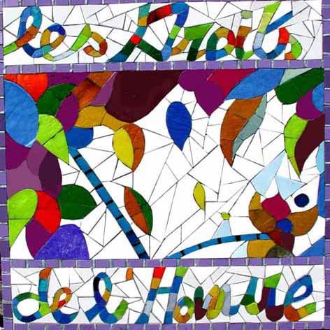 Détail, Mosaïque murale, Hall 271