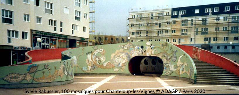 Mosaïque murale, Place du Pas
