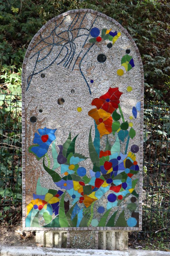 """Le Chemin Debussy, """"Stèle n°4, Jardin sous la pluie"""", H. 2,80 m"""