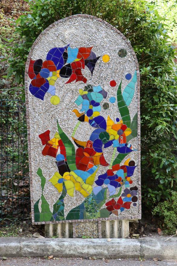 """Le Chemin Debussy, """"Stèle n°5, Jardin sous la pluie"""", H. 2,80 m"""