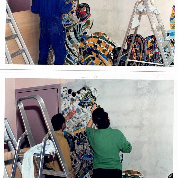 Réalisation d'une mosaïque murale