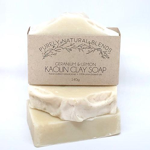 Geranium & Lemon - Kaolin Clay Artisan Soap