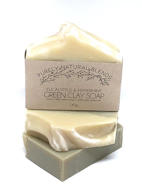 Eucalyptus & Peppermint - Green Clay Artisan Soap