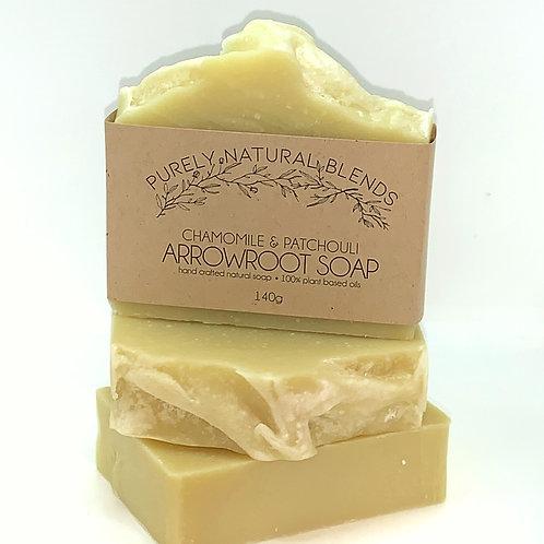 Chamomile & Patsouli - Arrowroot Powder Artisan Soap