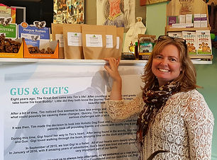 Picture of owner of Gus and Gigi's store
