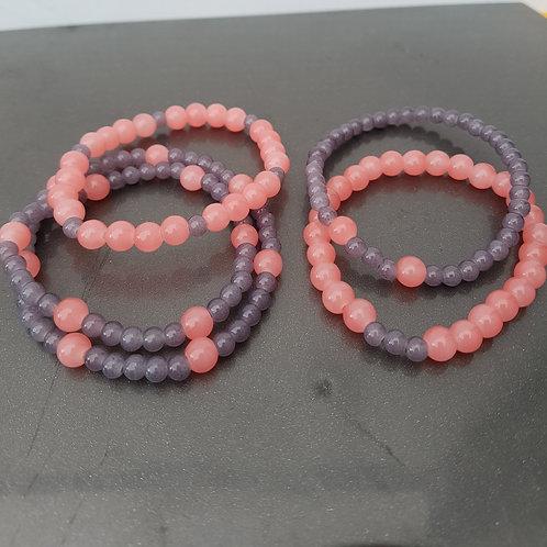 Perlenarmband rosa jade