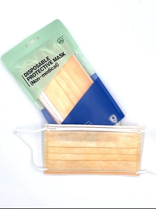Henan Hygienemasken in ORANGE geeignet für Brillenträger