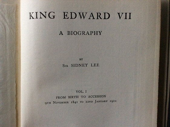 King Edward VII  a Biography   by Sir Henry Lee