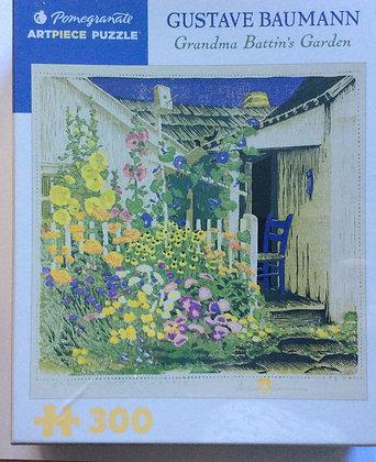 Grandma Battin's Garden  PUZZLE designed by Gustave Baumann