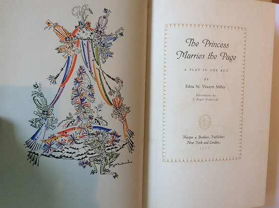 The Princess Marries the Page   By Edna St. Vincent Millay