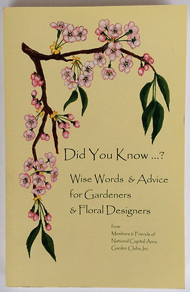 Wise Words for Gardeners and Floral Designers