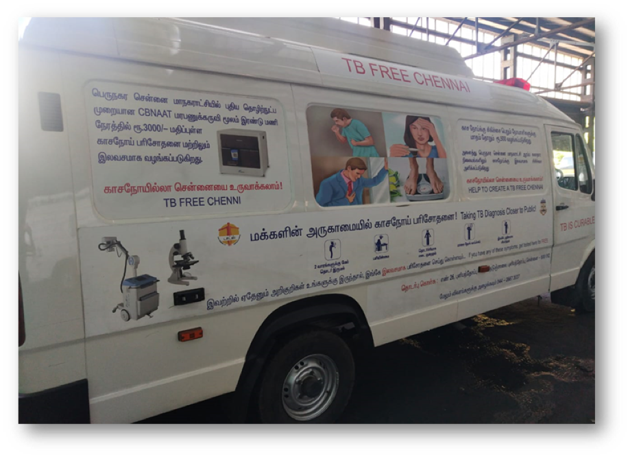 Mobile diagnostic van where the DeepTek solution has been deployed for a government conducted population screening program in India