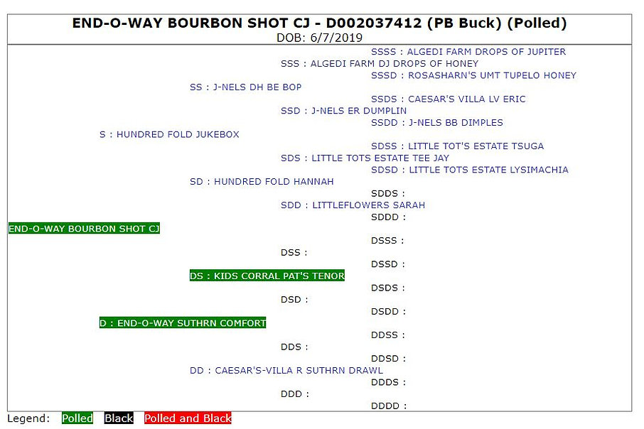 End-O-Way Bourbon Shot CJ