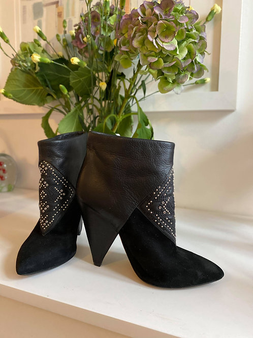 IRO Suede/Leather Metal Studded Ankle Boots