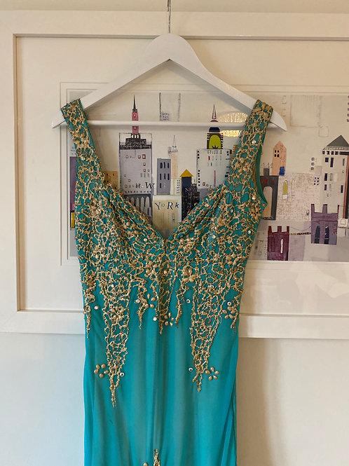 Holt Maison de Luxe Turquoise Dress