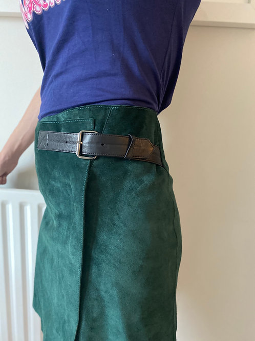 Reiss Suede Wrap Skirt - PRISTINE