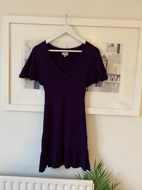 Karen Millen Purple Fine Knit Dress