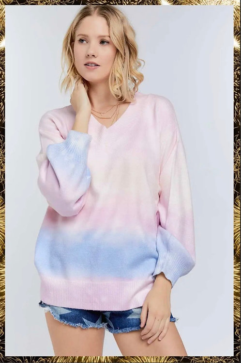 Sherbet Tie Dye Sweater