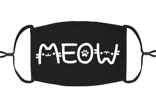 Adjustable Face Mask - Meow