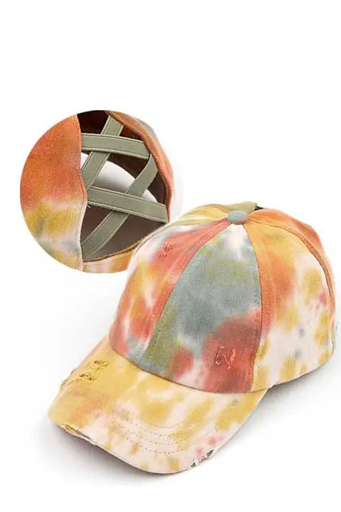 Criss Cross Tie Dye Hat