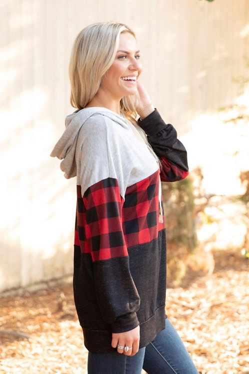 Buffalo Check Hooded Top