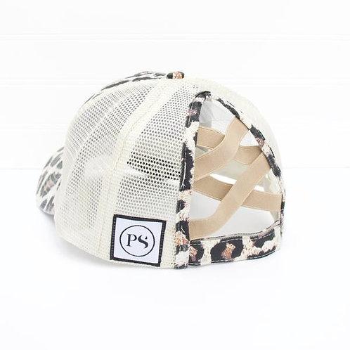 Leopard Print Cross Back Cap