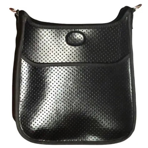 Perforated Neoprene Messenger, Silver Hardware (no strap)