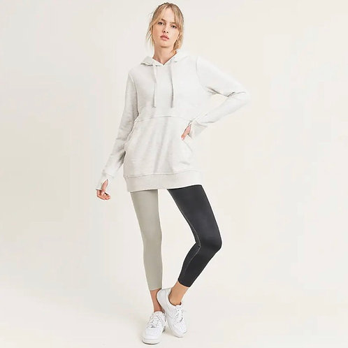 Terry Knit Hopdie with Thumbhole Cuff