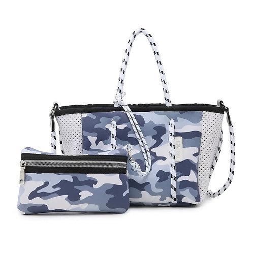 Coralia Neoprene Mini Bag- Camo Grey