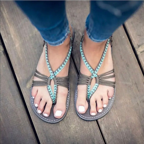Plaka Seashell Flip - Turquoise Grey
