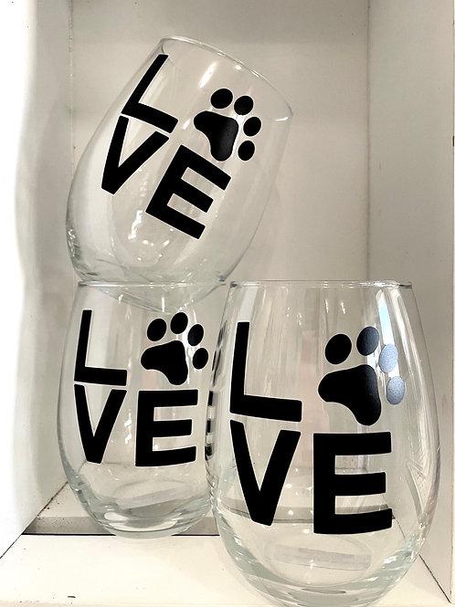 Animal Lover Stemless Glass