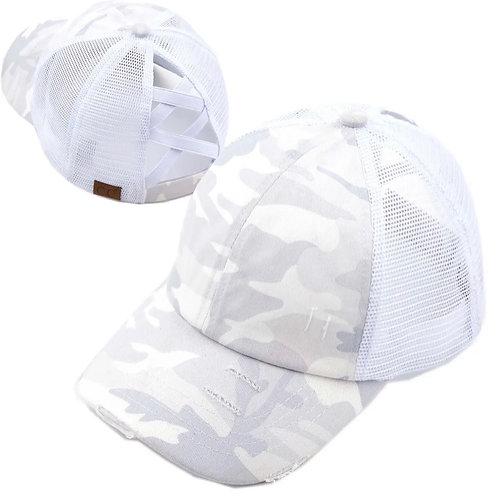 Criss Cross Camo Hat