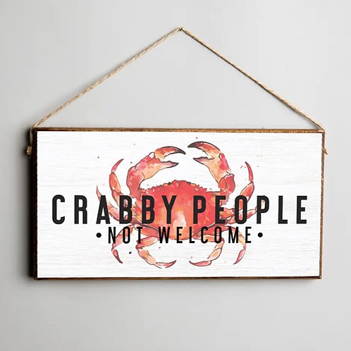 Twine Hanging Sign - Crabby People