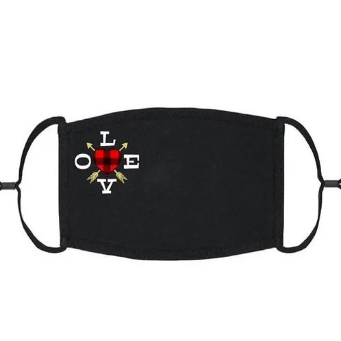 Adjustable Face Mask - Love Arrows