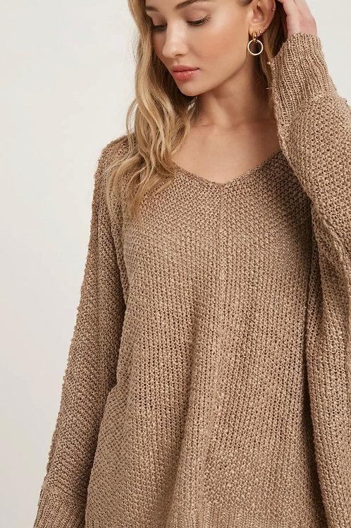 Reverse Seam Loose Fit Sweater