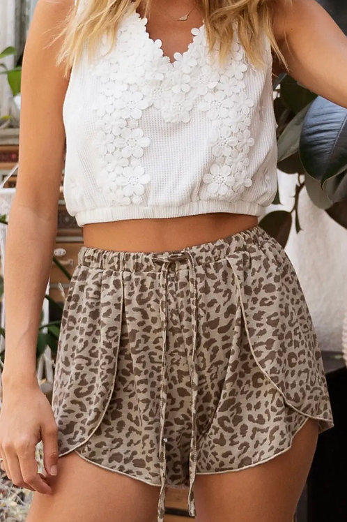 Flowy Leopard Shorts