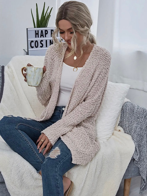 Lightweight Chunky Knit Cardigan (color options available)