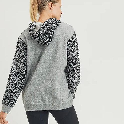 Cheetah Block Print Hoodie