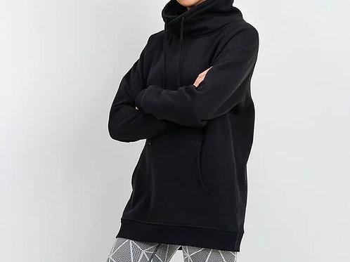 Criss Cross Cowl Neck Oversized Sweatshirt Pullover